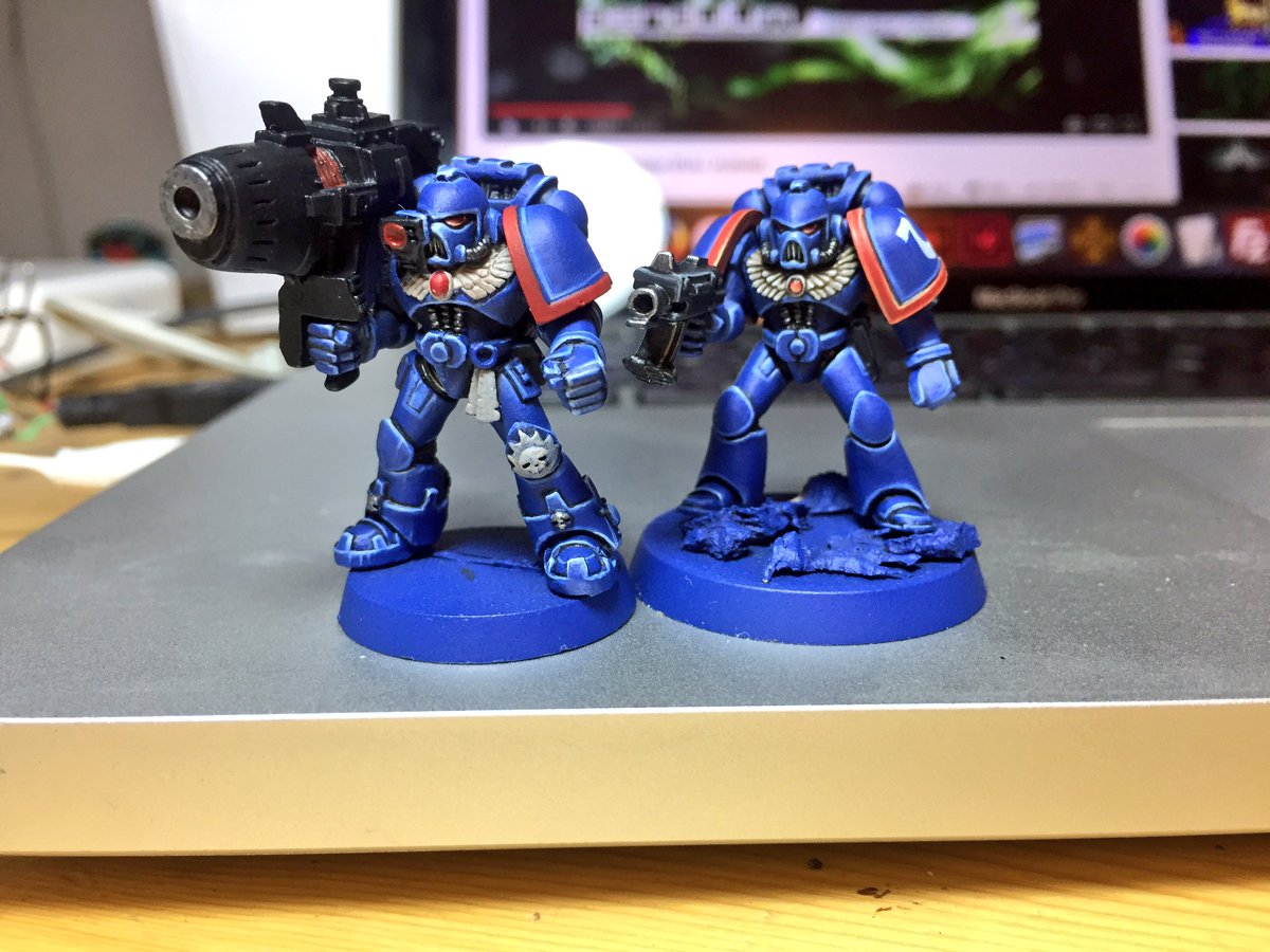 1990s Space Marine Ultramarines Colour Test