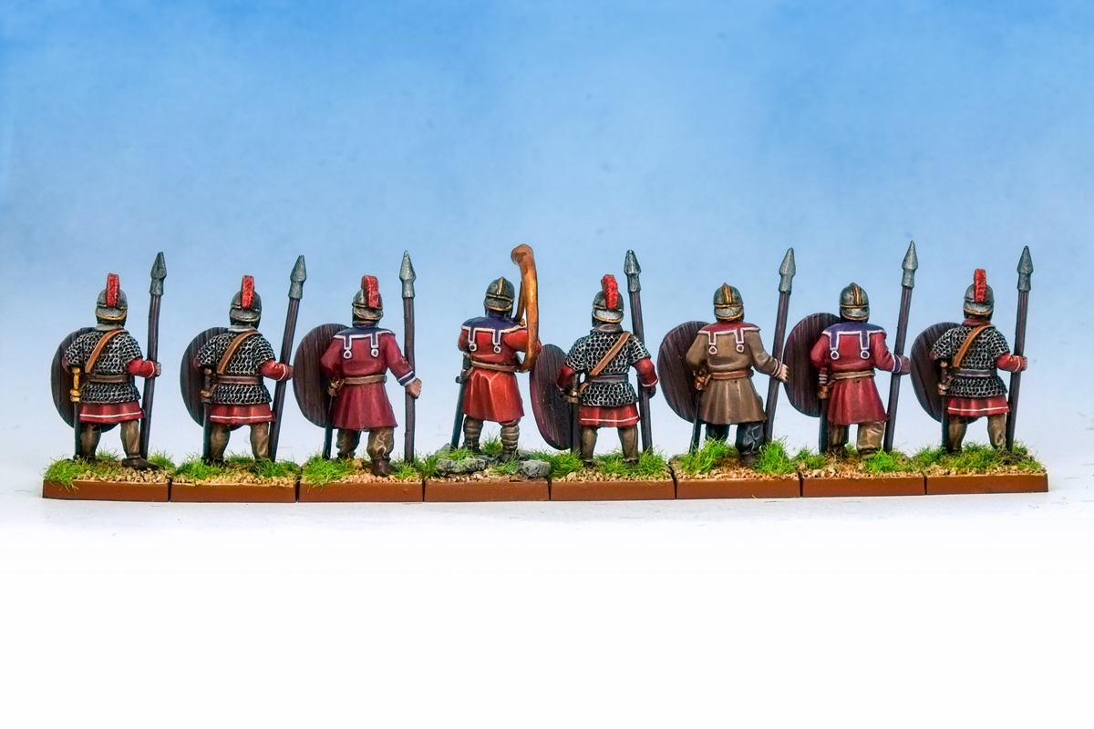 Late Imperial Roman Spearmen rear view