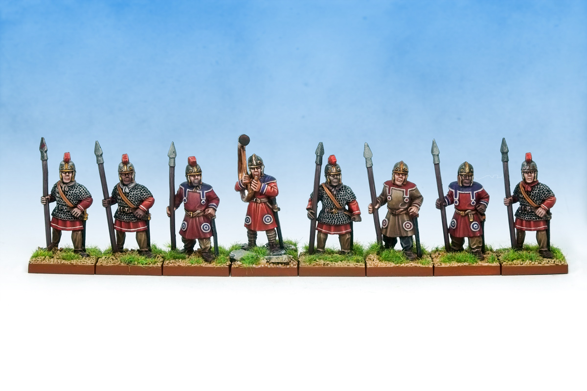 Late Imperial Roman Spearmen with shields