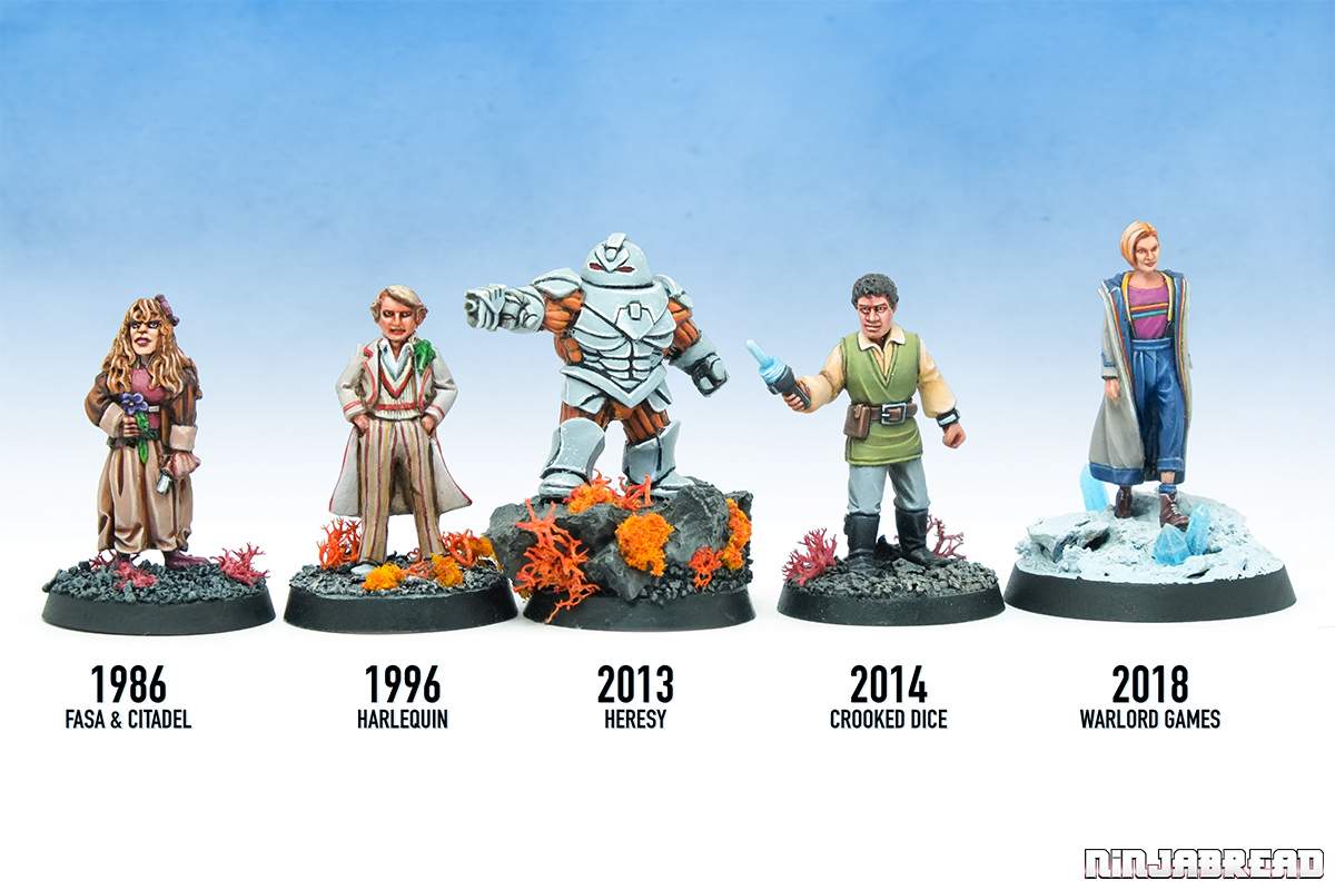 Walord Games' Doctor Who unofficial range comparison