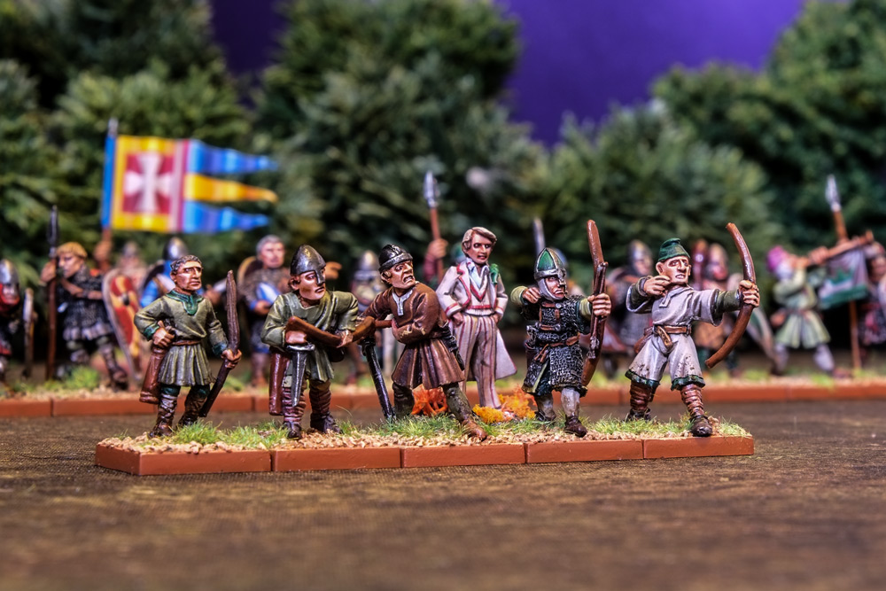 Harlequin's Fifth Doctor Who Miniature and some Norman Archers