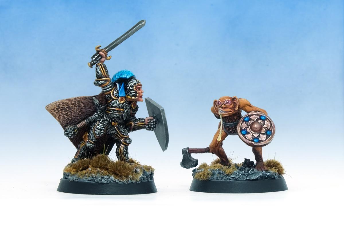 Dungeons & Dragons dnd Paladin versus Bugbear Citadel Preslotta Warhammer