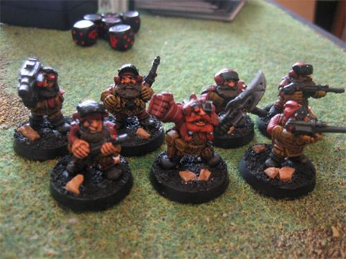 Fleshtuxedo's red squats.
