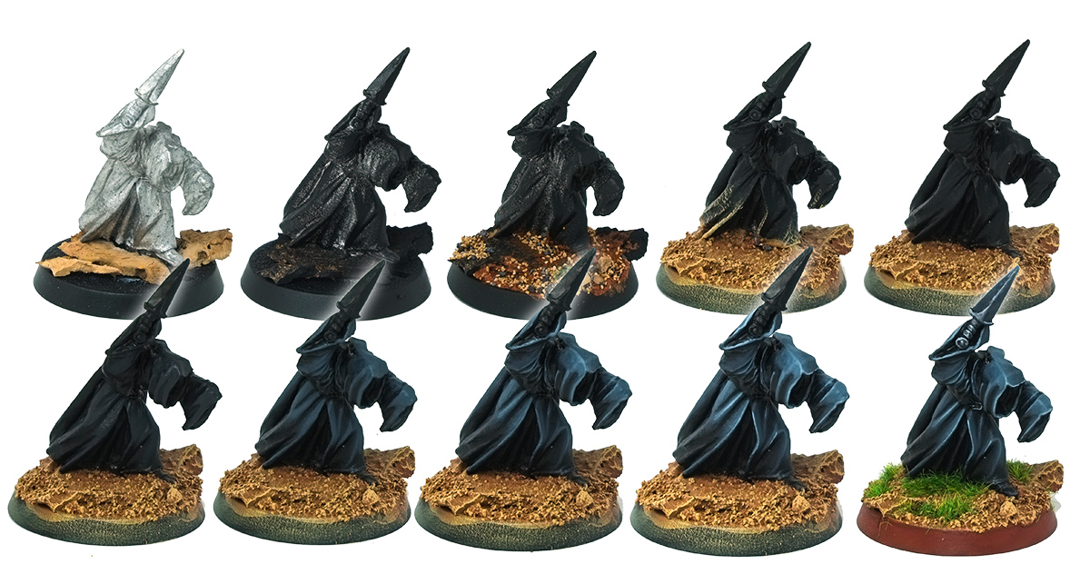 Nazgul painting tutorial step by steps