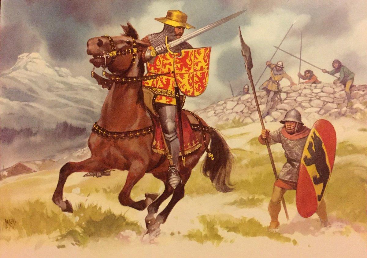 Oldhammer Blandford Warriors ex-Citadel Owen of Wales, by Angus McBride