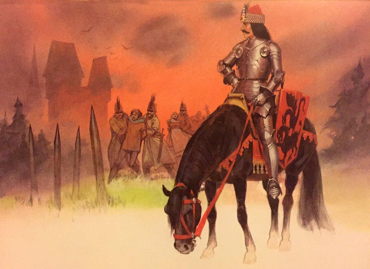 Oldhammer Blandford Warriors ex-Citadel Vlad Dracula, by Angus McBride