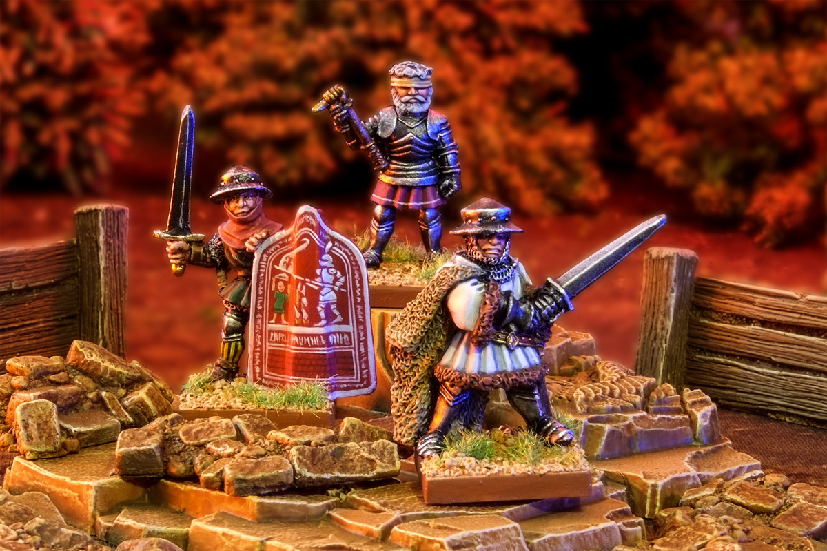 Oldhammer Blandford Warriors ex-Citadel Hundred Years War Sir John Chandos and Betrand du Guesclin