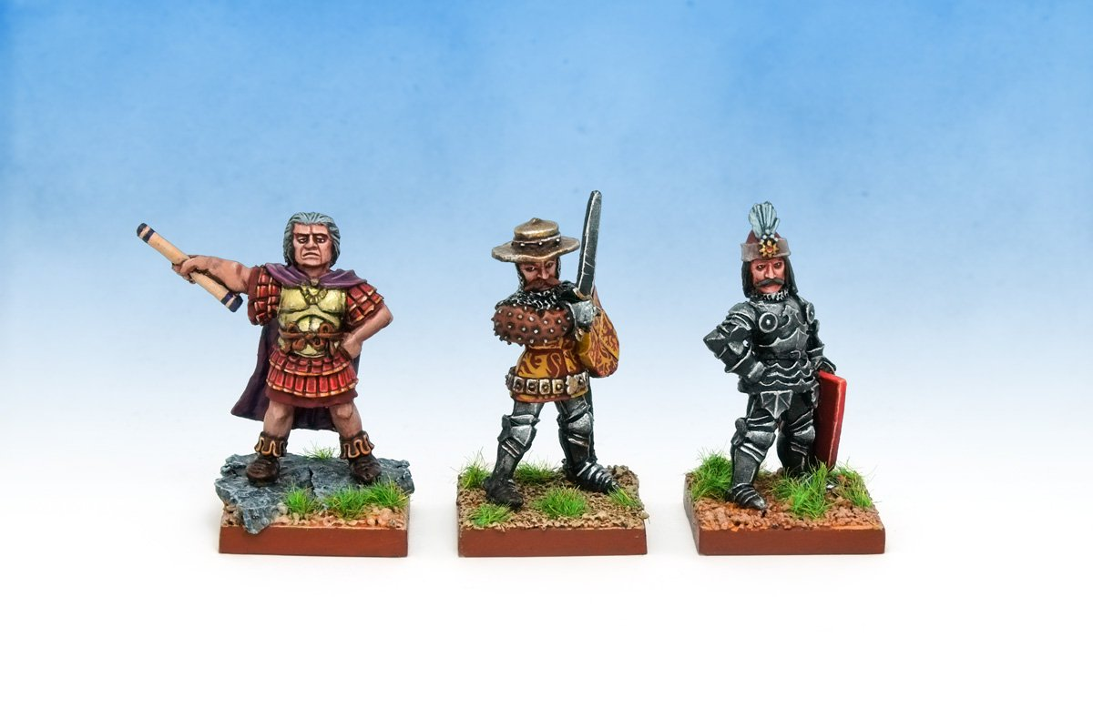 Oldhammer Blandford Warriors ex-Citadel Flavius Aetius, Owain of Wales and Vlad Dracula