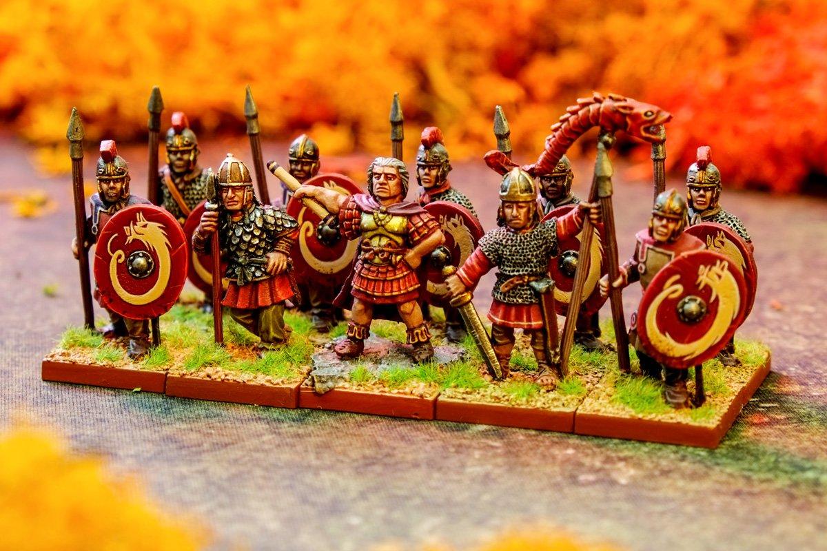 Oldhammer Blandford Warriors ex-Citadel Flavius Aetius with Alan Horseman and Buccellarius of Majorian