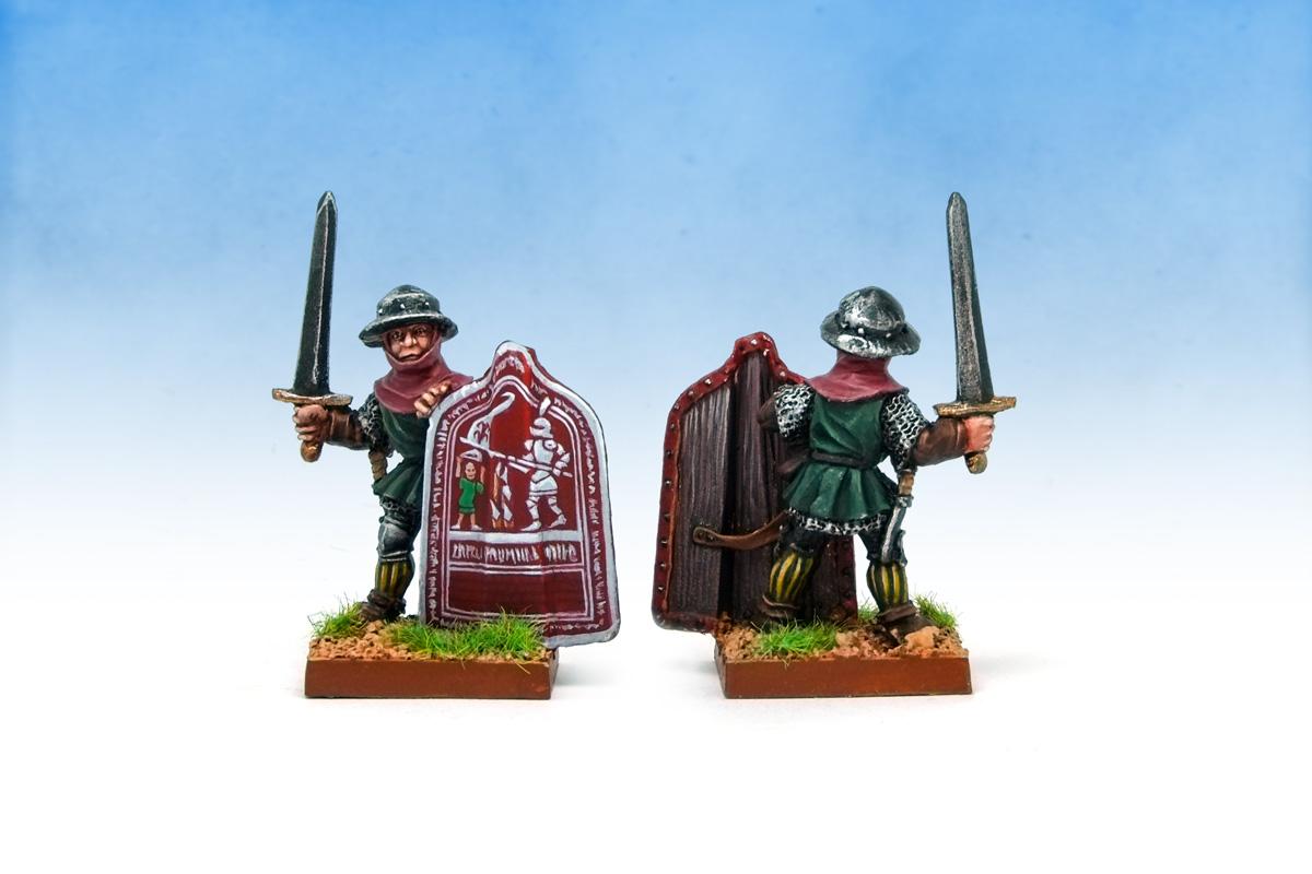 Oldhammer ex-Citadel Blandford Warriors Medieval Warlords Hussite Wars Taborite Infantryman