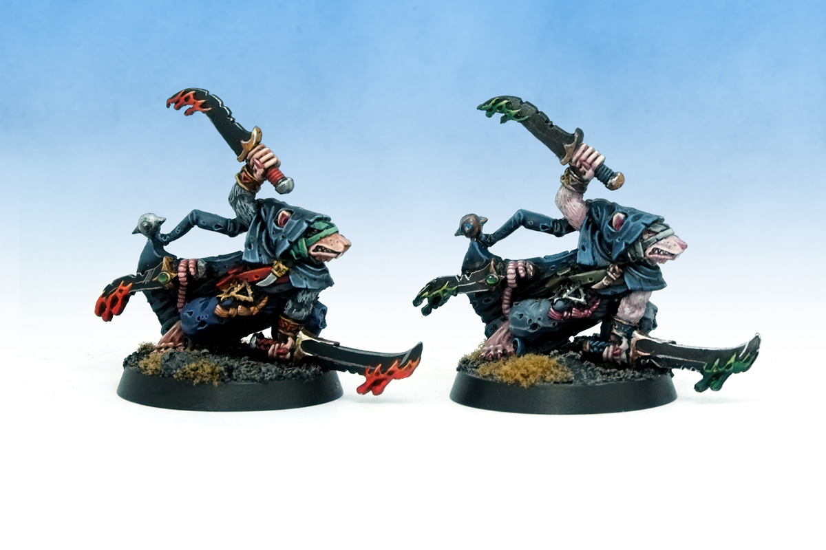 Silver Tower Warhammer Age of Sigmar Deathmaster Snikch Skaven Twins front