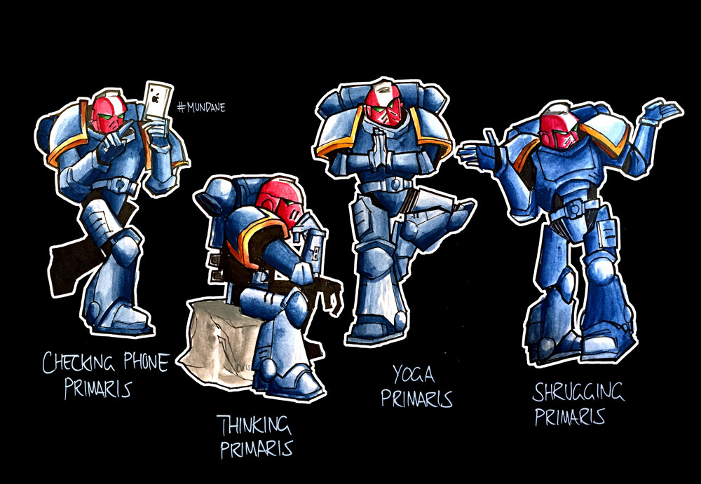 Mudane Primaris Poses