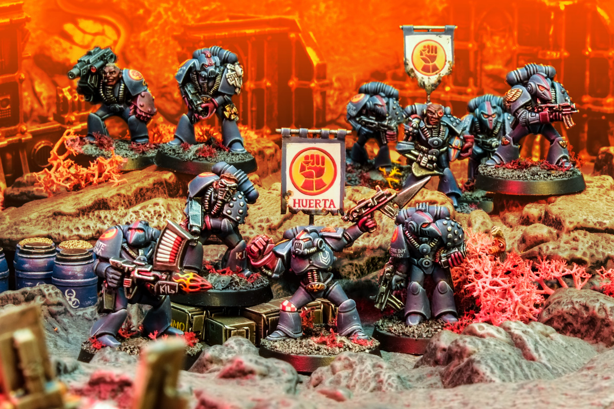 Rogue Trader Crimson Fists Squads Huerta and Onan