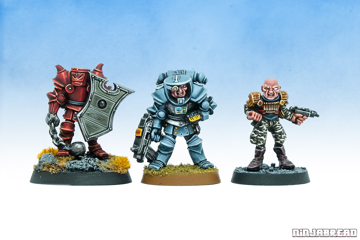 Sir Gigal de Appliance, Inquisitor Lord Augustus Hargen, and Traitor General