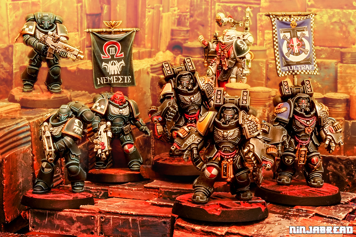 Deathwatch Primaris Aggressor Space Marines and Nemesis Chapter Warhammmer 40K