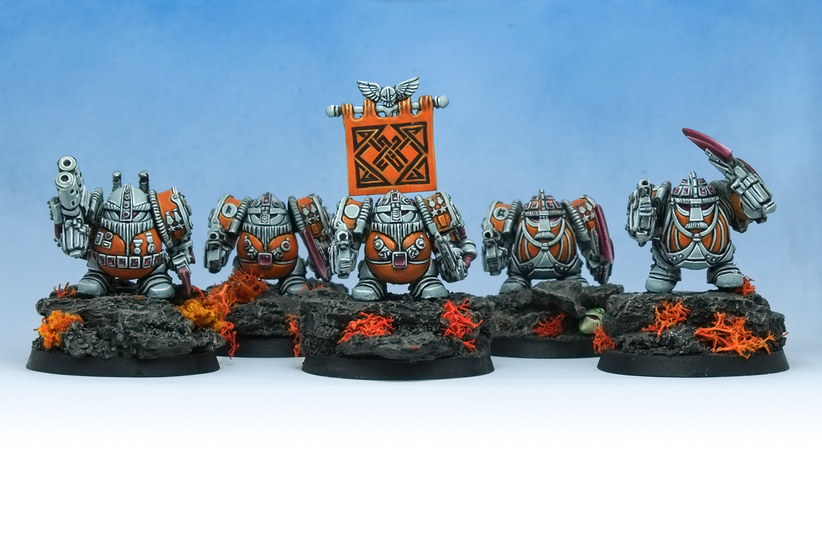 Rogue Trader 40K Exo-Armoured Squat Squad
