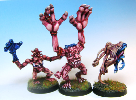 All three generations of Pink Horror of Tzeentch - Screamer.