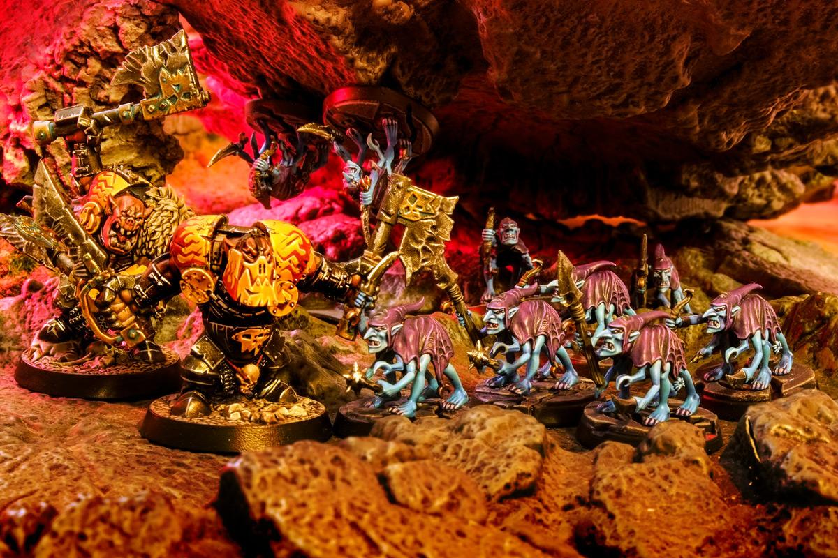 Warhammer Age of Sigmar Silver Tower Grot Scuttlings versus Shadespire Orruk Ironjawz