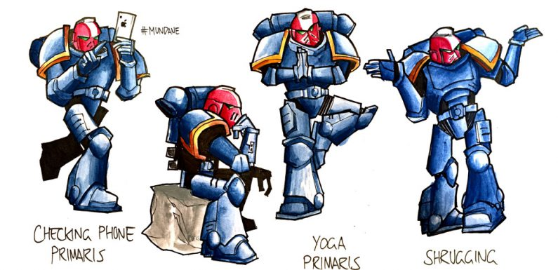 Even Less Exciting 30th Anniversary Primaris Marines