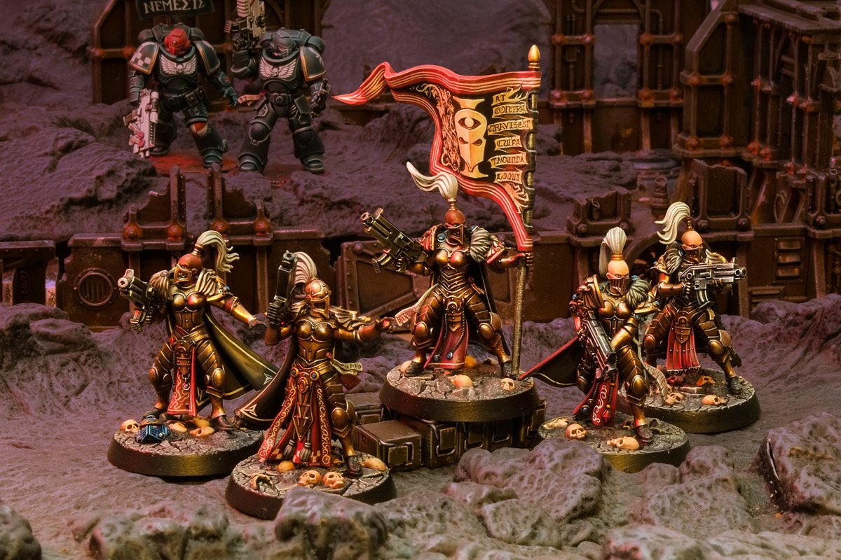 Golden Demon Sisters of Silence and Nemesis Chapter Space Marines